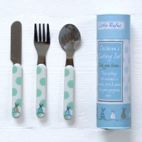 Rufus Rabbit - Boy Cutlery Set