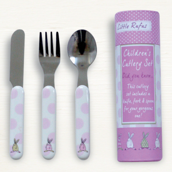 Rufus Rabbit - Girl Cutlery Set