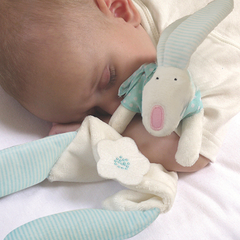 Rufus Rabbit - Boy's Comforter in Gift Bag
