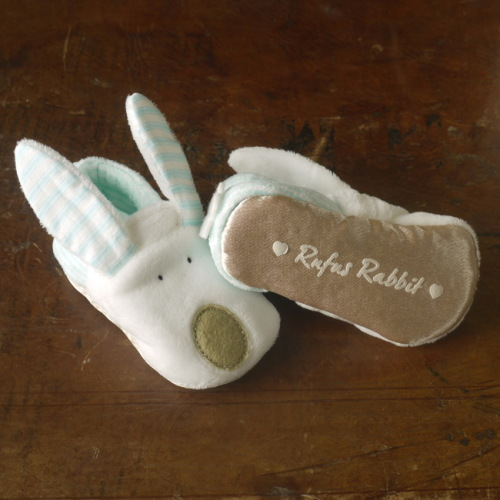 Rufus Rabbit - Baby Slippers 0-6 mths