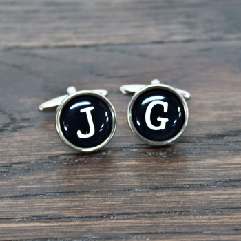 Typewriter Key Style Cuff-links