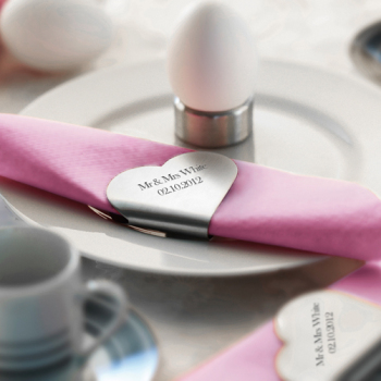 Personalised Stainless Steel Heart Napkin Holders