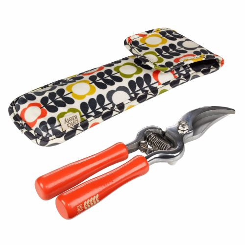 Secateurs with flower stem pouch