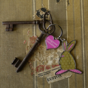 Grandma Keyring by Rufus Rabbit