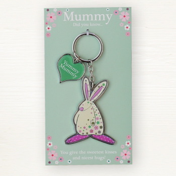 Yummy Mummy Keyring by Rufus Rabbit