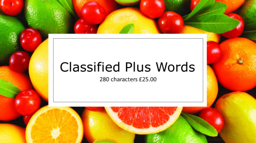 Classified Plus Words