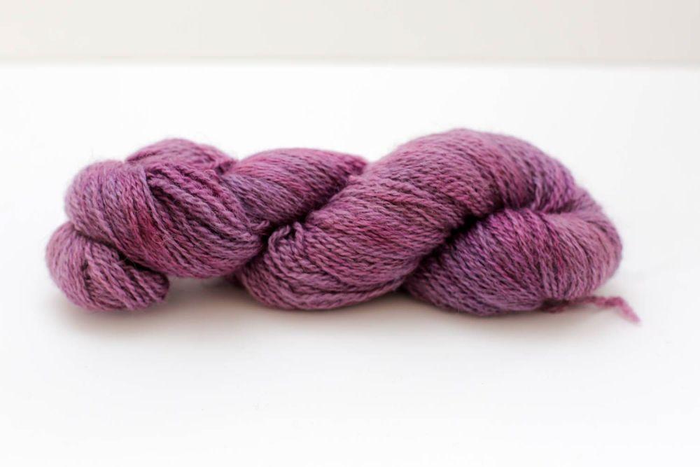 Hand Dyed Yarn - British BFL/Masham 4ply 100% Wool - Grape