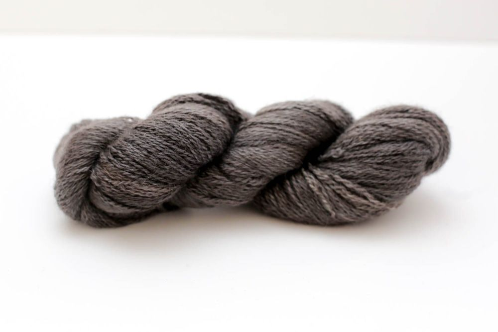 Hand Dyed Yarn - British BFL/Masham 4ply 100% Wool - Smoke
