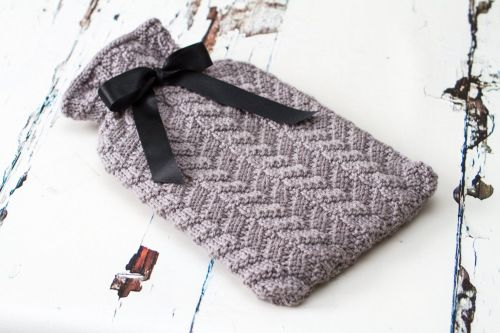 Lucinda Mock Cable Hot Water Bottle Cover - Knitting Pattern