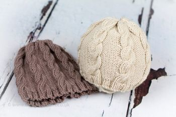 Little Cables Baby Beanie Hat - Knitting Pattern