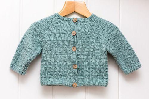 Dotted Swiss Baby Cardigan - Knitting Pattern