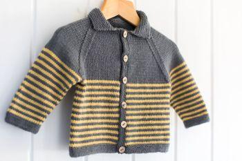 Milton Baby Jacket - Knitting Pattern