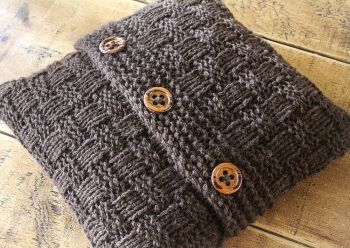 Super Chunky Basketweave Cushion Cover - Knitting Pattern
