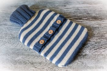 Stripes Hot Water Bottle Cover - Knitting Pattern