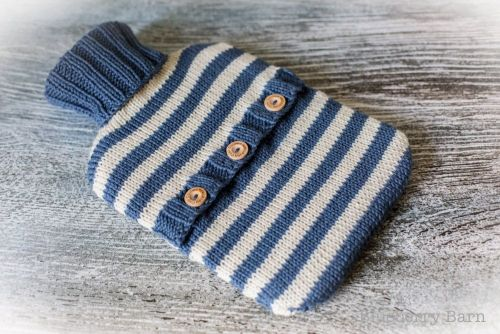 Stripes Hot Water Bottle Cover - Knitting Pattern