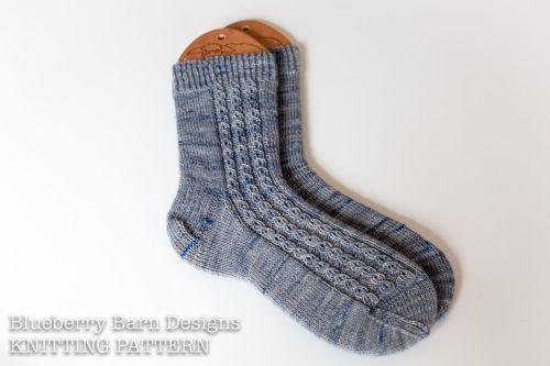 Wyaston Socks - three sizes  - Knitting Pattern