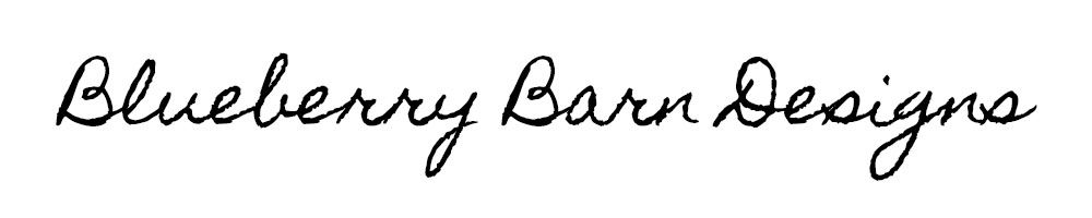 Blueberry Barn Designs, site logo.