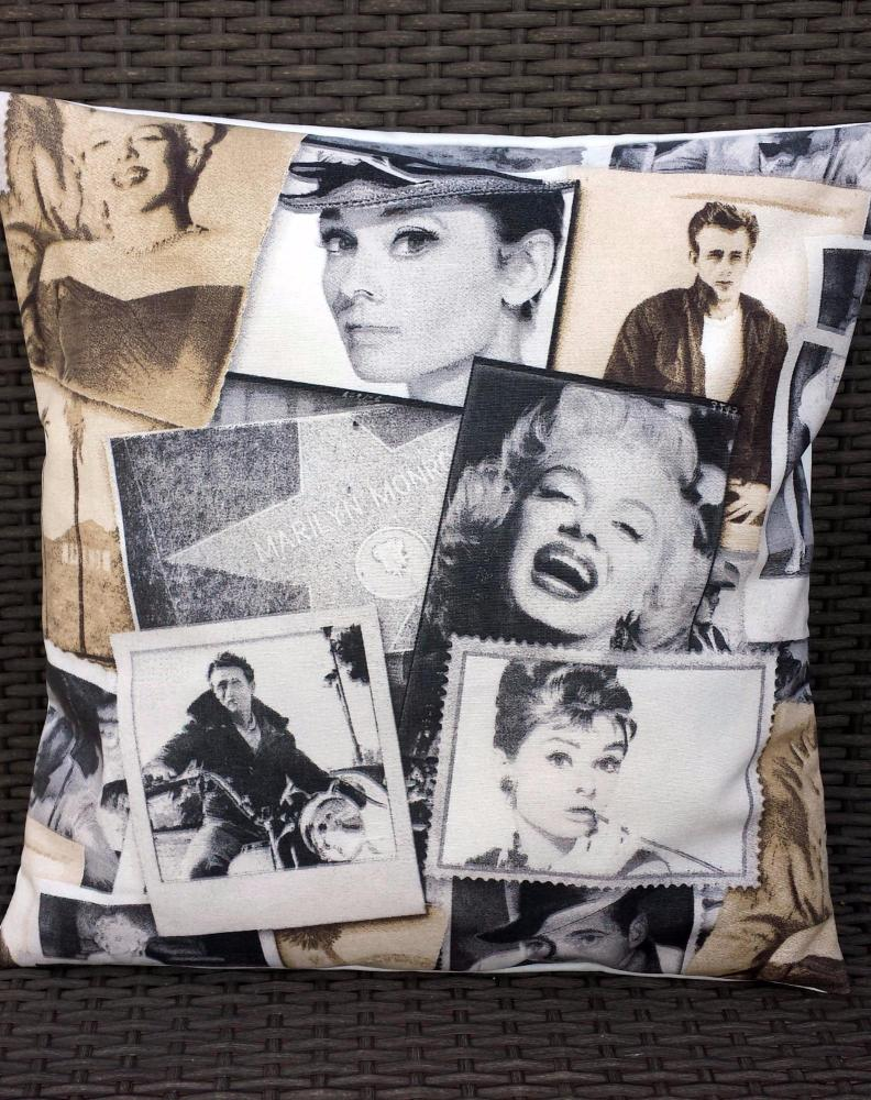 Vintage Retro Hollywood Actors Cotton Fabric Cushion Cover 16