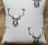 Fryett's 'Stag' Print Cotton Fabric Cushion Cover 16