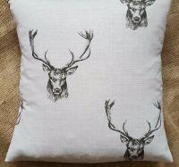 Fryett's 'Stag' Print Cotton Fabric Cushion Cover 16
