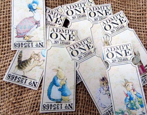 10 Beatrix Potter Peter Rabbit Admit One Tickets