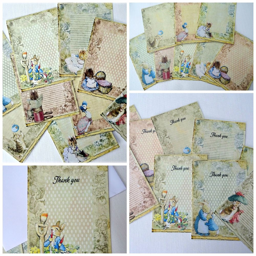 9 Beatrix Potter Peter Rabbit Cards
