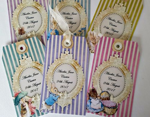 6 Peter Rabbit Beatrix Potter Personalised Gift Tags