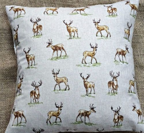 New Countryside Animals 'Stags' Print Cushion Cover 16