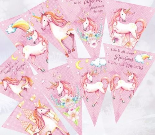 Fairy-Tale Unicorn Bunting/Banner for Any Occasion - 2.5m