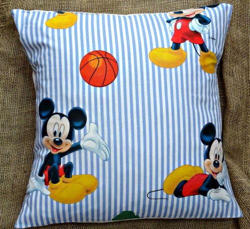 Mickey Mouse Cotton Fabric Cushion Cover 16