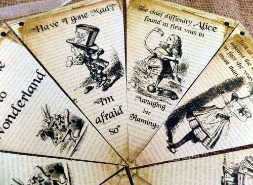 4m Personalised Alice in Wonderland Bunting/Banner for Any Occasion