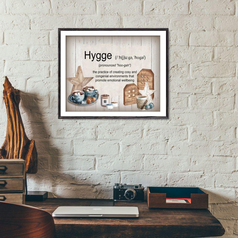Danish 'Hygge' Definition Wall Art Print Sign