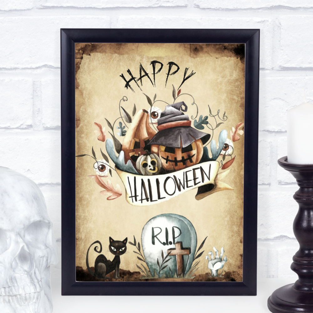 Happy Halloween Party Sign