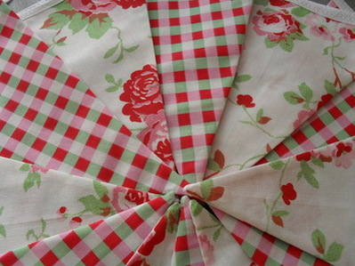 Cath Kidston Ikea Rosali & Check Cotton Fabric Bunting