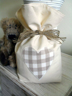 Cotton Door Stop With Laura Ashley Truffle Gingham Heart