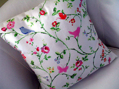 Shabby Chic Clarke & Clarke Bird Trail Chintz Cotton Fabric Cushion Cover