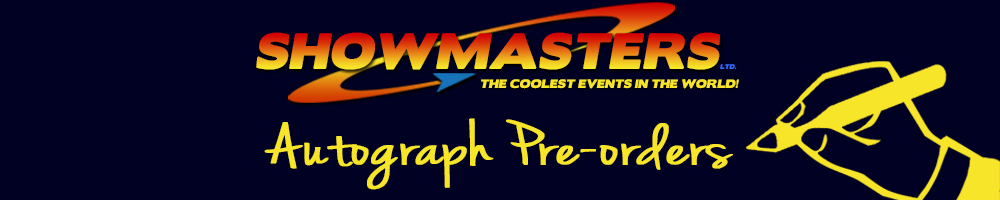 showmasters autograph pre-orders, site logo.