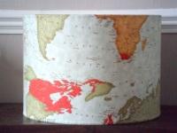 Handmade 'Maps' Pendant lampshade