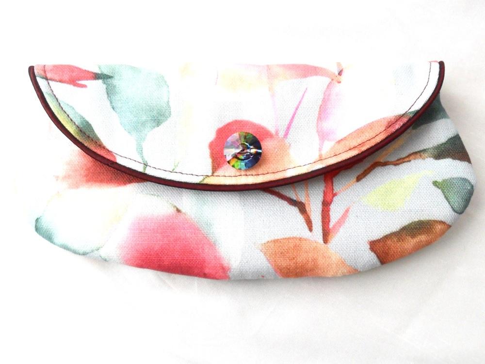 Floral print mini clutch