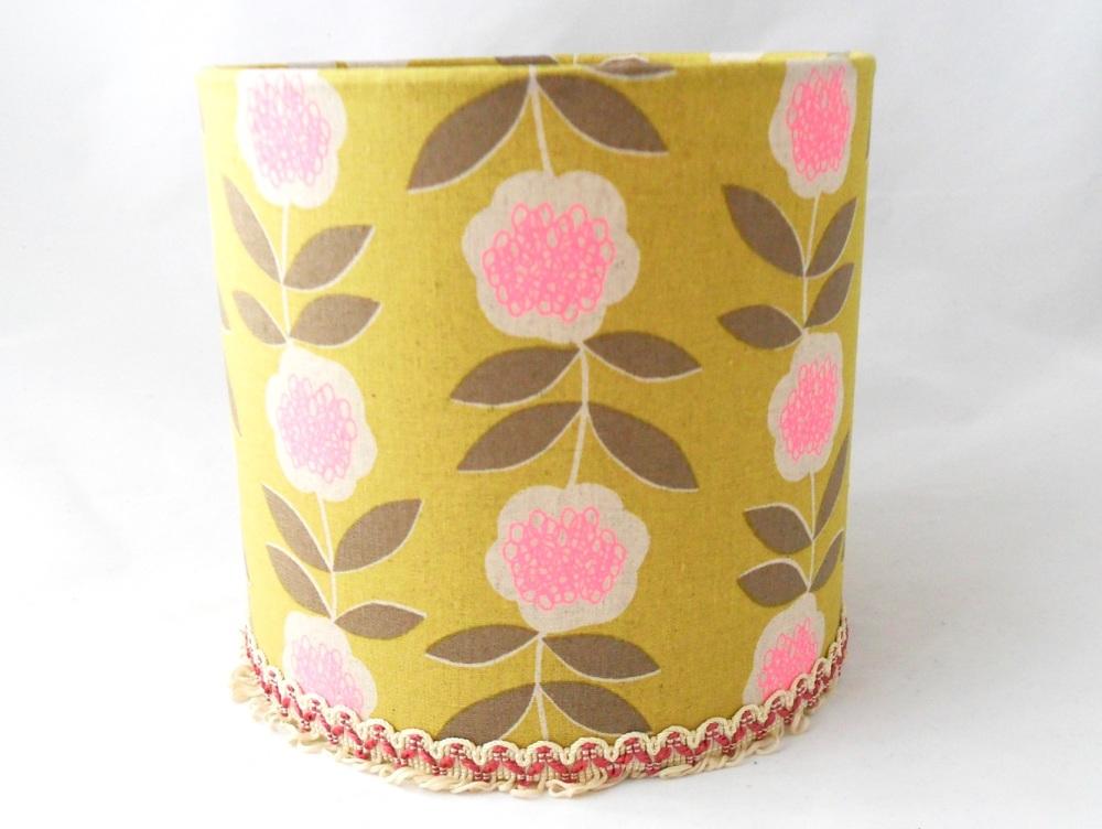 Floral print lampshade