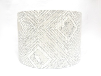 Silver drum lampshade