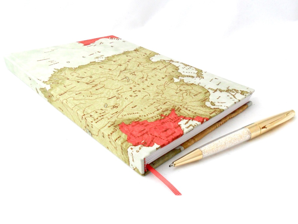 Maps themed notebook