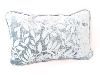 Duck egg velvet cushion