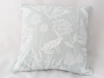Hare print cushion