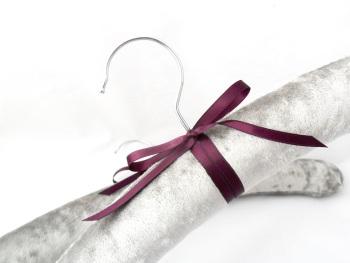 Silver velvet coat hangers