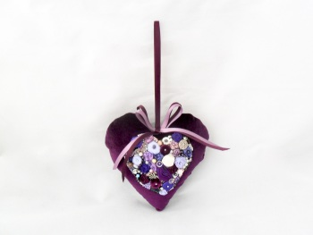 Purple velvet lavender-scented heart
