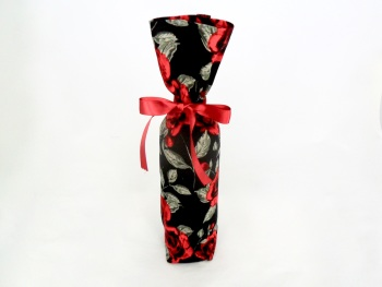 Rose print fabric gift bag