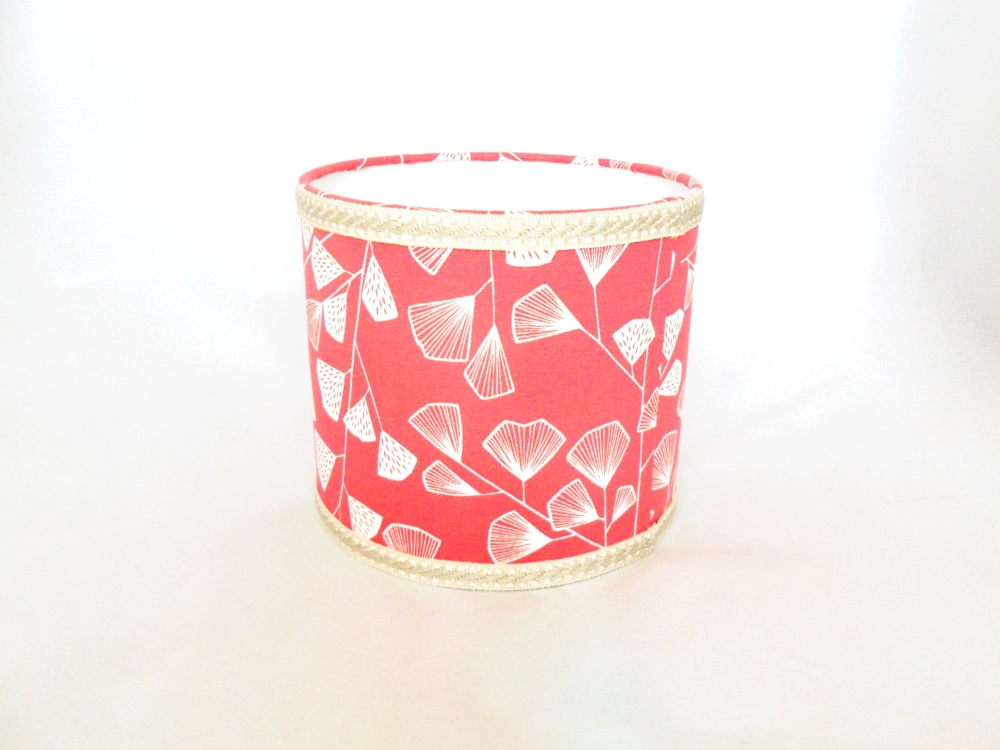 Coral pink drum lampshade