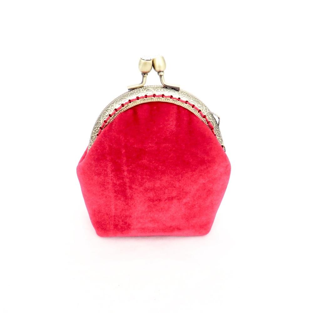Red velvet purse