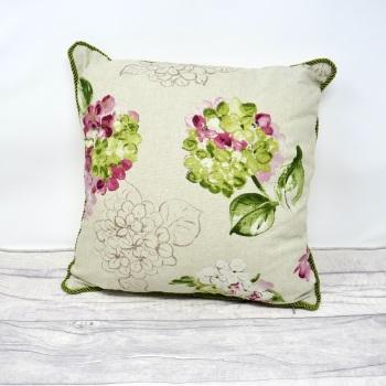 Floral print cushion